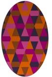 rug #1156345 | oval retro rug