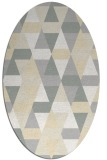 rug #1156367 | oval white geometry rug