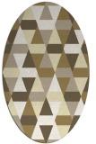 rug #1156383 | oval yellow retro rug