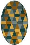 rug #1156391   oval light-orange retro rug
