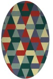 rug #1156395 | oval yellow retro rug