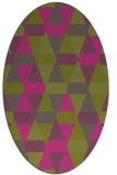 rug #1156407 | oval light-green rug