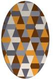 rug #1156427 | oval white retro rug