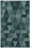 rug #1156503 |  blue-green retro rug