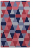 rug #1156523 |  blue-violet geometry rug