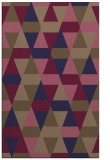 rug #1156535 |  blue-violet geometry rug