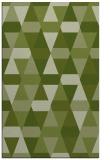 rug #1156555 |  green retro rug