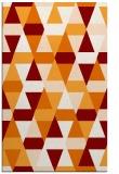 rug #1156643 |  orange geometry rug