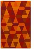 rug #1156691    orange retro rug