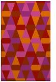 rug #1156699 |  red geometry rug