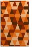 rug #1156707 |  red-orange retro rug