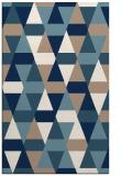 rug #1156739 |  blue-green retro rug