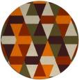 rug #1156799 | round orange retro rug