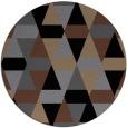 rug #1156807 | round black retro rug