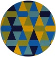 rug #1156831 | round blue geometry rug