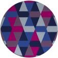 rug #1156835 | round blue retro rug