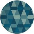 rug #1156867 | round blue-green rug