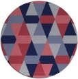 rug #1156891 | round pink retro rug