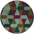 rug #1156911 | round brown retro rug