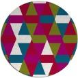 rug #1156915 | round red retro rug