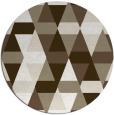 rug #1156959 | round mid-brown retro rug