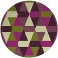 rug #1157043 | round green geometry rug