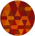 rug #1157059 | round orange geometry rug