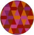 rug #1157067 | round pink rug