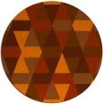 rug #1157071 | round red-orange retro rug