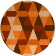 rug #1157075 | round red-orange retro rug