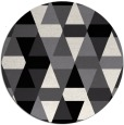rug #1157087 | round black retro rug