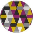 rug #1157123 | round yellow retro rug