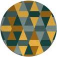 rug #1157127 | round yellow retro rug