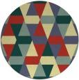 rug #1157131   round yellow retro rug