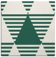 rug #1157667   square green retro rug