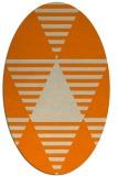 rug #1157903 | oval beige graphic rug