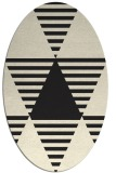 rug #1157927   oval black graphic rug