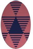 rug #1157995 | oval pink graphic rug