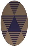rug #1158007 | oval blue-violet graphic rug