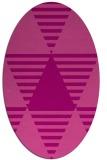 rug #1158127   oval pink abstract rug