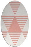 rug #1158139 | oval white abstract rug