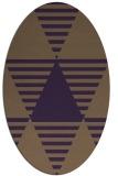 rug #1158151 | oval mid-brown rug