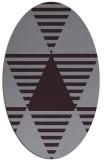 rug #1158155 | oval purple abstract rug