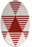 rug #1158167 | oval red retro rug