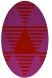 rug #1158171 | oval pink retro rug