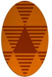 rug #1158175 | oval red-orange abstract rug