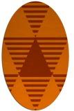 rug #1158175 | oval retro rug
