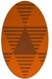 rug #1158183 | oval red-orange rug