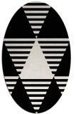rug #1158191 | oval black retro rug