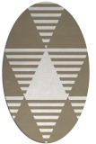 rug #1158215 | oval beige graphic rug